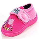 Girls Peppa Pig Pink Muddle Puddles Lychee Slippers
