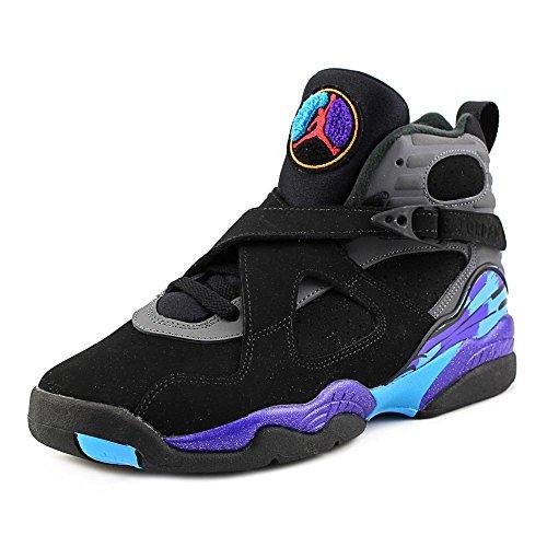 Nike Jordan Kids Jordan Air Jordan 8 Retro Bg Black/Tr Rd/Flnt Gry/Brght Cncr Basketball Shoe 7 Kids US (Air Jordans 8 compare prices)