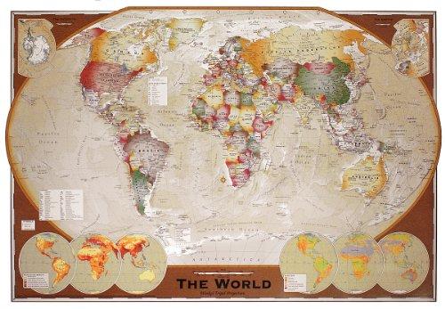 Weltkarte als Poster | Weltkarte als Winkel-Tripel-Projektion