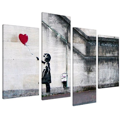 extra-large-banksy-canvas-prints-balloon-girl-130cm-xl-red-set-4050