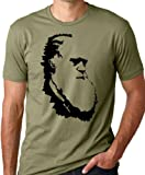 Charles Darwin Evolution T-shirt Atheist Tee Olive L