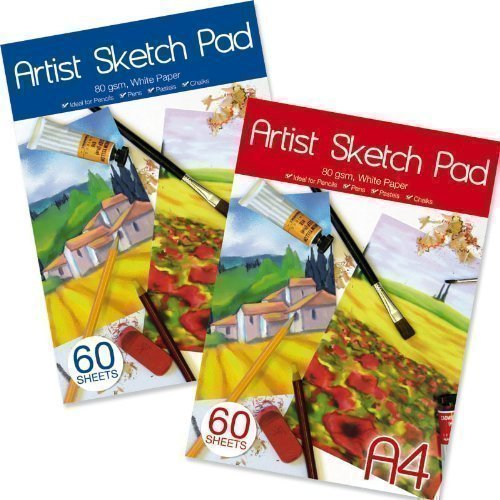 a4-artists-sketch-cartridge-paper-pad-80gsm-60-sheets-ideal-chalkspencil-pastel