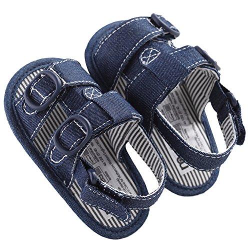 WAYLONGPLUS Baby Boys Prewalker Summer Canvas Anti-skid Soft Sole Sandals First Walkers