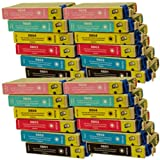 Epson Stylus Photo PX720WD compatible printer ink cartridges - 24 pack (4 Black, 4 Cyan, 4 Magenta, 4 Yellow, 4 Light Cyan, 4 Light Magenta). Maximum yield 0801-6 (0807 Multipack) compatible cartridges, latest version chips.