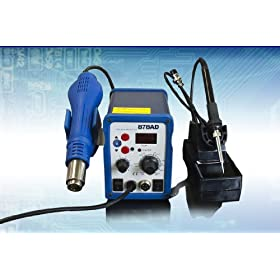 New 2 IN 1 SMD Soldering Station Iron Hot Air Rework Solder Station