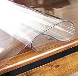 yasushoji クリア デスク キッチン テーブル マット 長方形 防水 傷や汚れに強い 耐熱 耐寒 メモ書き 便利 (60cm×120cm) (透明1.5mm)