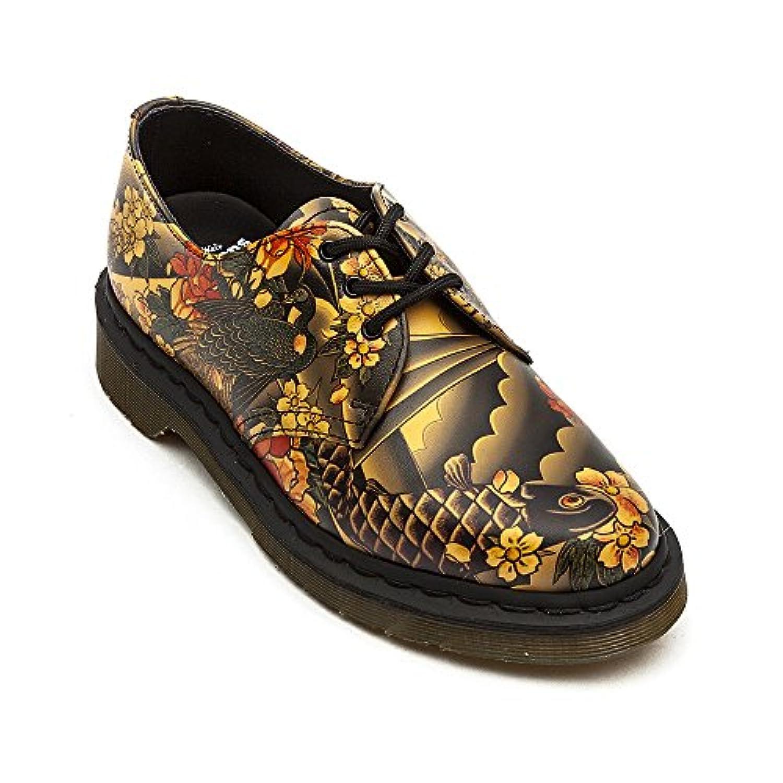 Dr. Martens Men's 1461 3-Eye Shoe Tan Tattoo Sleeve Softy T Oxford UK 5 (US Women's 7) M