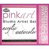 Royal and Langnickel Pink Art Acrylic and Watercolor Studio Artist Set