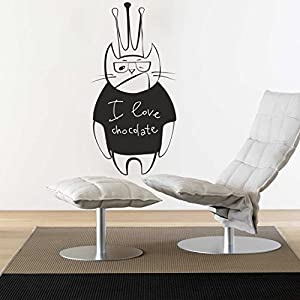 wall decal vinyl sticker art decor design cat animal funny