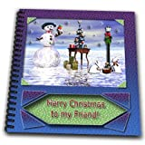 db_17491_2 Beverly Turner Christmas Design - Snowman with Bunny Friends 3d Merry Christmas to Friend - Drawing Book - Memory Book 12 x 12 inch