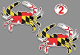 "Maryland flag blue crab decal sticker 5"" x 7"" set of 2"