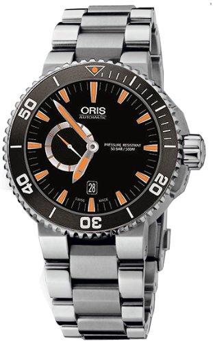 Oris Men's 74376734159MB Aquis Analog Display Swiss Automatic Silver Watch