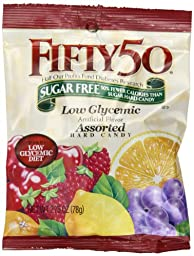 Fifty-50 Hard Candy, Assorted Fruit, 2.75-Ounce Packages (Pack of 8)
