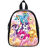 Best Gift To Your Kid Cute favourite school bags Custom Unique rainbow dash my little pony genuine leather children school bags & kids backpack