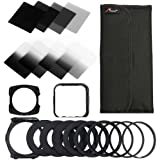 XCSOURCE 20in1 Complete Neutral Density ND Filter Set ND2 ND4 ND8 ND16 G.ND2 G.ND4 G.N8 G.ND16 for Cokin P + Square Holder + Adapter + Holder + Lens Hood for Cokin LF292