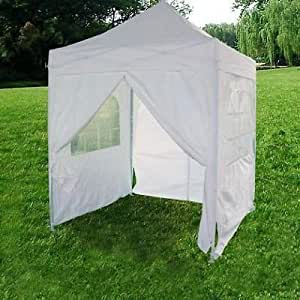 quictent silvox waterproof ez pop up canopy gazebo party tent white. Black Bedroom Furniture Sets. Home Design Ideas