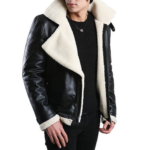 flatseven mens genuine leather jacket winter coats. Black Bedroom Furniture Sets. Home Design Ideas