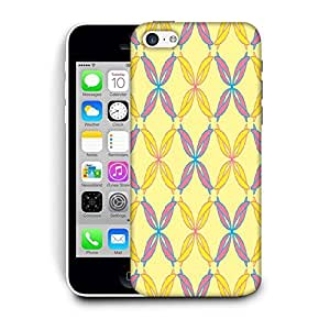 Snoogg Colorful Ribbons Printed Protective Phone Back Case Cover For Apple Iphone 5C