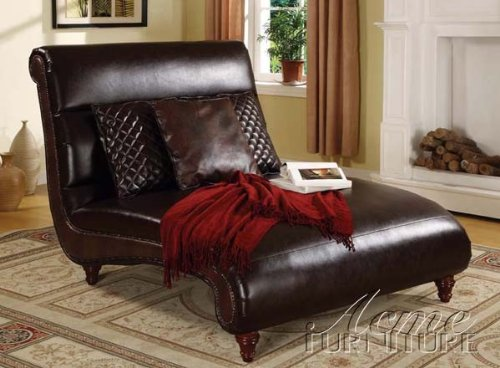 Chaise Lounge  Scroll Design in Brown Bycast