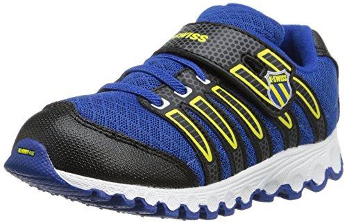 K-Swiss 23111 Tubes Run 100 Strap Mesh Running Shoe (Infant/Toddler),Classic Blue/Blazing Yellow,8 M Us Toddler