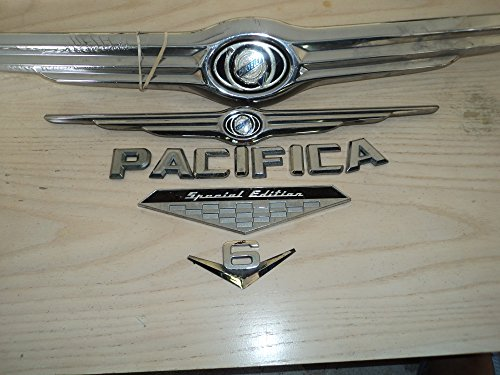 2005-chrysler-pacifica-v6-special-edition-front-rear-chrome-oem-used-emblem-wing-badge-logo-sign-ful