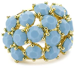 Trina Turk Jewel Encrusted Opaque Turquoise-Color Ring