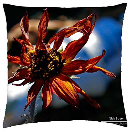 "Withered flower - Throw Pillow Cover Case (18"" x 18"")"