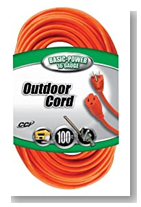 6 Pack Coleman Cable 02309 100' Vinyl Jacketed 16/3 SJTW Outdoor Extension Cord - Orange