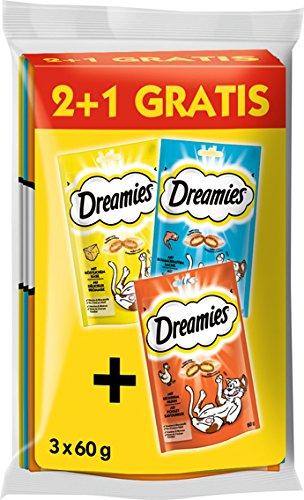 Dreamies Katzensnacks 2 plus 1 Gratis, 9 Beutel (3 x 3 x 60...