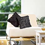 Eyda Black - Cushion Cover