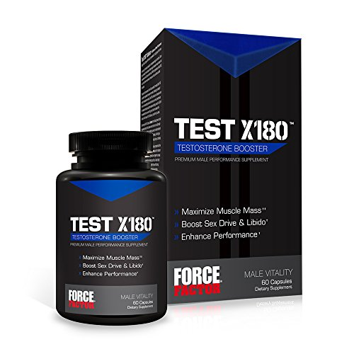 Force Factor Test X180, Free Testosterone Booster …