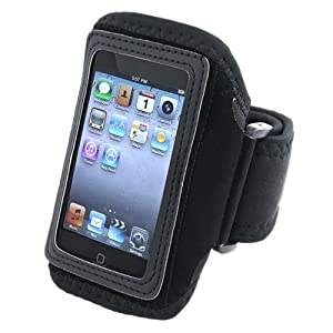 eForCity Adjustable Deluxe Armband with Case for Apple iPod touch 2G, Black