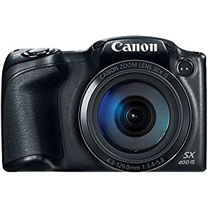 Canon PowerShot SX400 Digital Camera with 30x Optical Zoom (Black)