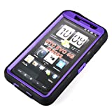 BestDealUSA Rubberized Hard Case Cover for Sprint HTC EVO 4G-Black Purple