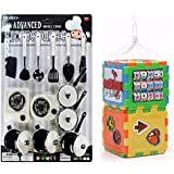 Combo Of Plastic Kitchen Play Set And Multi-Puzzle Cube Toy Block For Kids