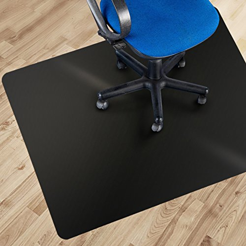 etm® Black Polycarbonate Office Chair Mat - 90x120cm (3'x4') | Multiple Sizes Available | Hard Floor Protection - No-Recycling Material - High Impact Strength