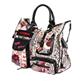 Desigual London Victoria Tasche Algodan + Sticker