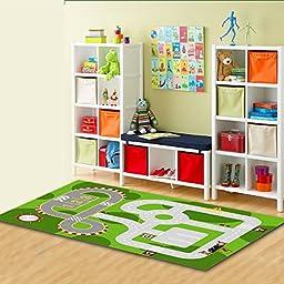 Beautiful Kids Disney Playing Rug - 100 % Nylon - Green