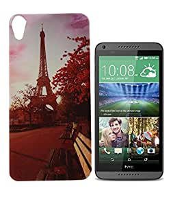 Exclusive Soft Silicone Back Case Cover For HTC Desire 816 - Eiffel Tower.