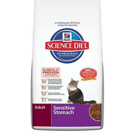 Detail image Hill's Science Diet Adult Sensitive Stomach Dry Cat Food, 15.5-Pound Bag