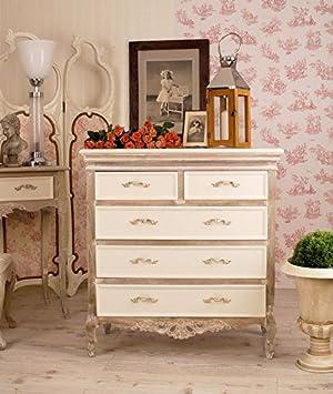 Kommode, Kommodenschrank, Schubladenschrank, Schrank, Möbel fur die Wohnung im angesagten Cottage-Stil , gefertigt aus Holz und als romantisches Schränkchen - Palazzo Exclusive