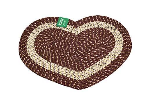 Emerald Wholesale Heart Shaped Braided Rug, 20