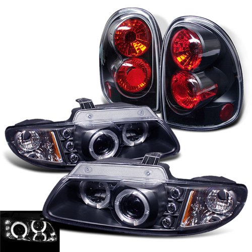 Rxmotoring 1996-2000 Dodge Grand Caravan Projector Headlights + Led Tail Light