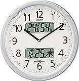 CITIZEN ( シチズン ) 電波 掛け時計 ネムリーナカレンダーM01 シルバーメタリック 4FYA01-019