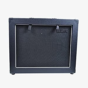 """Seismic Audio - 12"""" GUITAR SPEAKER CABINET EMPTY - 7 Ply Birch - 1x12 Speakerless Cab - Black Tolex - Black Cloth Grill - Front or Rear Loading Options"""