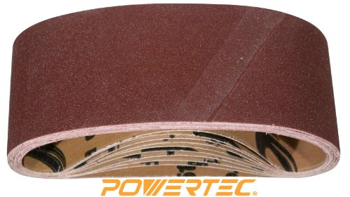 "Buy POWERTEC 110450 120 Grit Aluminum Oxide Sanding Belts (Pack of 10), 3"" x 21"""