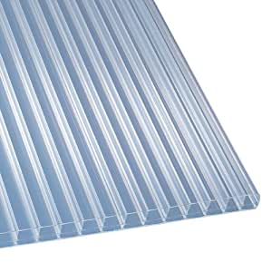 polycarbonat stegplatten hohlkammerplatten klar 4000 x 980 x 16 mm 36 79 eur qm. Black Bedroom Furniture Sets. Home Design Ideas