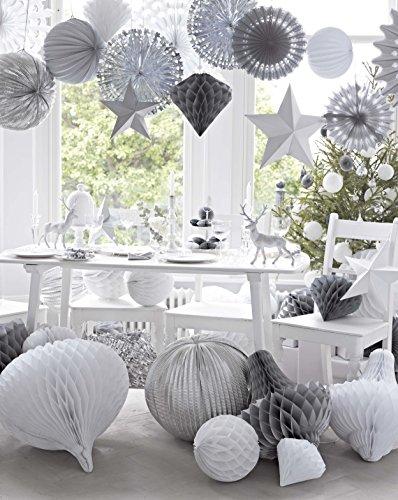 Talking Tables Decadent Decs 50,8 cm géant en forme de boule, Blanc
