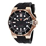 Swiss Legend Men's Abyssos 46mm Black Silicone Band Steel Case S. Sapphire Crystal Automatic Watch 10062A-RG-01