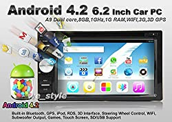 See Universal Android 4.2 Car DVD Player 6.2 Inch In-Dash Multi-Touch Capacitive with 3G WIFI GPS Navigation 3D MAP RDS IPOD Bluetooth Touch Screen Details